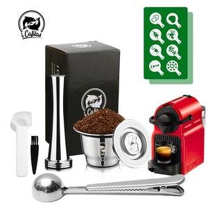 Filtro de café cápsula reutilizable de café recargable filtros para Nespresso cucharillas accesorios de cocina pastel plantillas molde tamiz