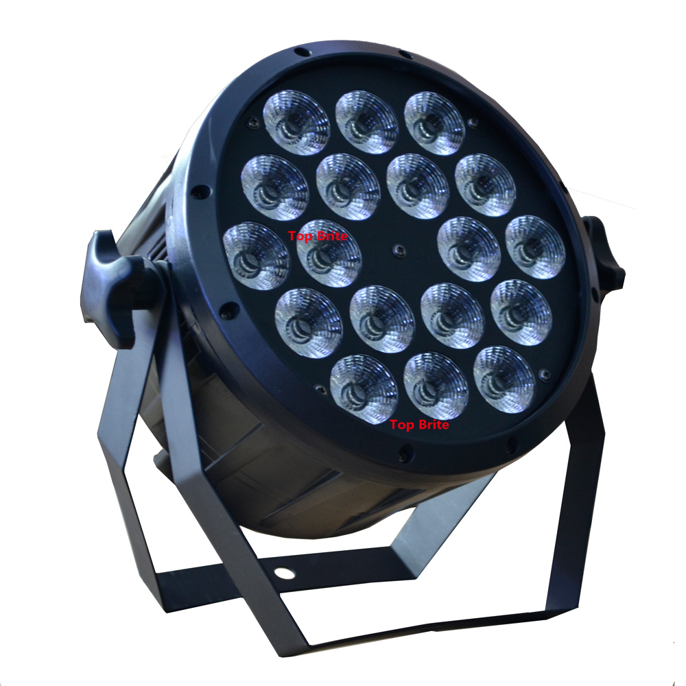 Image 3 - 2019 Led Par Light 18x12W 4in1 RGBW Flat Plastic LED Par Can Disco Lamp Stage Lights Luces Discoteca Laser Beam Luz de Projector-in Stage Lighting Effect from Lights & Lighting