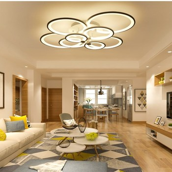 Artpad Modern Surface Mounted Led Ceiling Lights Living Room Bedroom Dining Room Indoor Ceiling Lighting Fixture 40/70/120W 1
