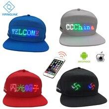 Светодиодная Кепка с Bluetooth, 12*48, большой размер, led дисплей, бейсболка, хип-хоп, шляпа для гольфа, ночная рыбалка, охотничий светодиодный светильник, шапка для верховой езды