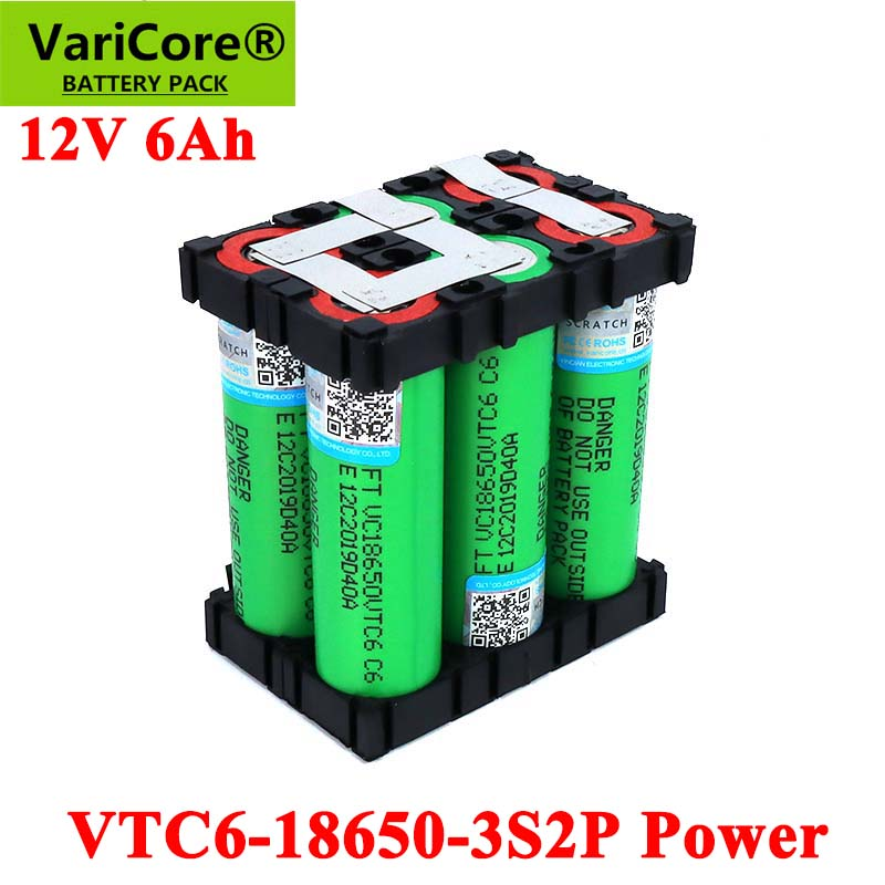 VariCore 11.1v/12.6V 18650 VTC6 3S2P 6000mAh 20 amps For 12V wireless Screwdriver <font><b>batteries</b></font> DIY weld <font><b>battery</b></font> <font><b>pack</b></font> image