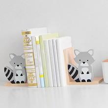 Bookends Book Storage Space-saving Wooden Desk Decor Practical Bookshelf for School