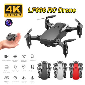 LF606 Wifi FPV Foldable RC Drone with 4K HD Camera Altitude Hold 3D Flips Headless Mode RC Helicopter Aircraft image