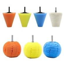 Cone Sponge Pads Ball Hub Polishing Wheel Buffing Car Beauty Waxing Car  Beauty B36B