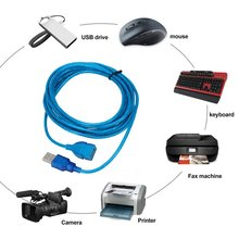 цена на JINCHI 1/1.5/2/3M Anti-Interference USB 2.0 Extension Cable USB 2.0 Male To USB 2.0 Female Extension Data Sync Cord Cable