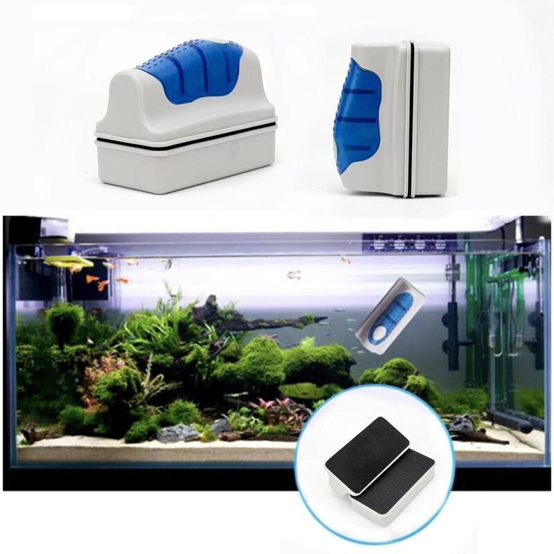 1 шт. Полезная плавающая Магнитная Щетка для аквариума, скребок для стеклянных водорослей, очиститель для аквариума, инструменты для аквари...