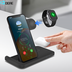 3 in 1 Wireless Charger for Apple Watch 6 5 4 3 2 AirPods Pro 15W Qi Fast Charging Dock Station For iWatch iPhone 11 XS XR X 8