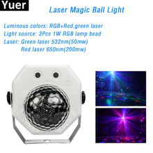 Mini Rotating  Disco  Laser DJ Ball Party Lights 10W RGB LED Club Stage Lights Christmas Party Wedding Show DMX Light Projector недорого
