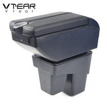 Vdéchirer – boîte de rangement en cuir pour accoudoir de voiture Honda WRV, repose-bras USB, pièces intérieures ABS, accessoires de console centrale 2018