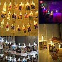 купить LED Card Pictures Photos Clips Peg String Lights Bright Battery Power Festival Party Wedding Valentines Decor light Indoor Home по цене 242.94 рублей