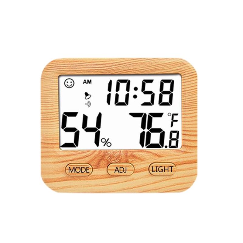 Цифровой беспроводной термометр с гигрометром датчик температуры календарь будильник Крытый многофункциональный, с ЖК-дисплеем и