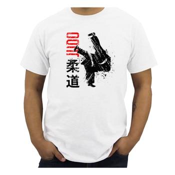 Judo T Shirt Men Summer T-shirt Boy Print Tshirt Brazilian Jiu Jitsu Short Sleeve White Color Tops Tees Casual Streewear