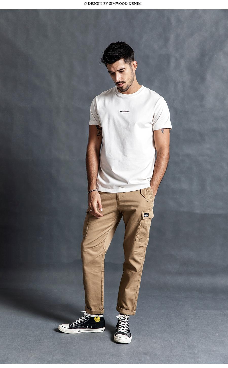 H325ab2b8cffd401a88a7b6ec3363ac51z SIMWOOD New 2019 Casual Pants Men Fashion track Cargo Pants Ankle-Length military autumn Trousers Men pantalon hombre 180614