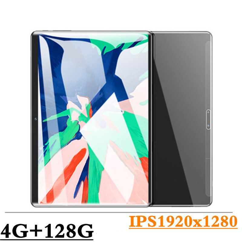 10.1 pouces tablette PC 3G/4G Android 8.0 Octa Core Super tablettes Ram 4G + 128G WiFi GPS 10 tablette IPS 1920*1280 double SIM GPS