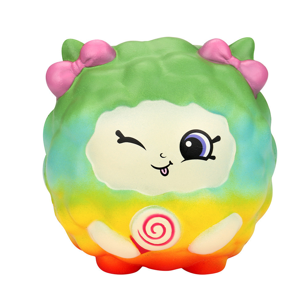 Cartoon Lovely Colorful Sheep Slow Rising Antistress Toy Funny Holiday Gift Educational & Learning Toys Collection Cure Gift #C