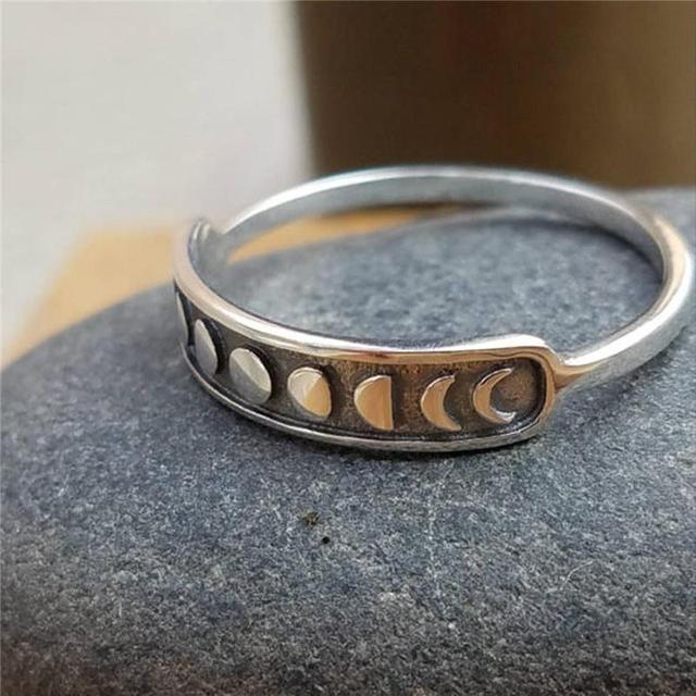 Купить женские винтажные богемные кольца серебряного цвета с луной картинки