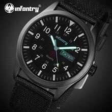 INFANTERIE Herren Uhren Top Brand Luxus Militär Uhr Männer Taktische Wasserdicht Datum Tag Schwarz Uhr für Männer Relogio Masculino