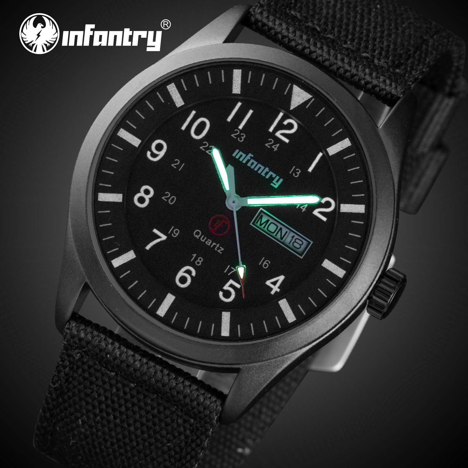 INFANTRY Mens Watches Top Brand Luxury Military Watch Men Tactical Waterproof Date Day Black Watch For Men Relogio Masculino