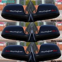 2 pçs/lote Reflexivo espelho retrovisor Do Carro etiqueta para audi sline A1 A4 B5 B6 B7 B8 A3 8P 8V 8L A5 A6 C6 C5 C7 A7 A8 Q3 Q5 Q7 Q8 TT