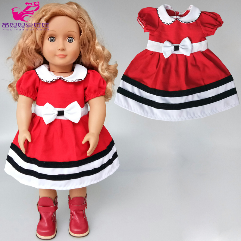 40cm Baby Doll Dress Rompers Bathrobe 18 Inch Doll Bow Dress  Girl New Year Gift