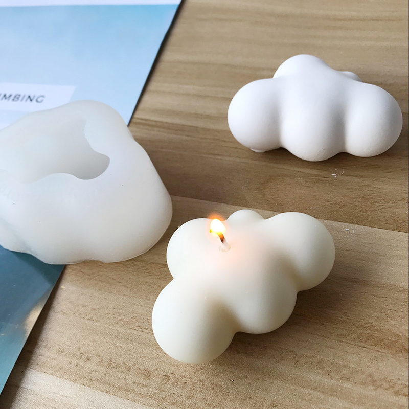 Clouds Shape Silicone Molds Cute Jewelry Making Mold Handcraft Ornaments Making Tool Practical DIY Soap Mould Candle Mold