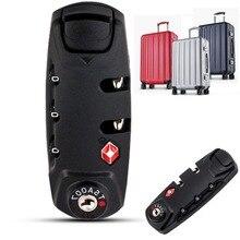 цена на 3 Digit Combination Resettable Black and White Travel Suitcase Luggage Security Code Lock Padlock