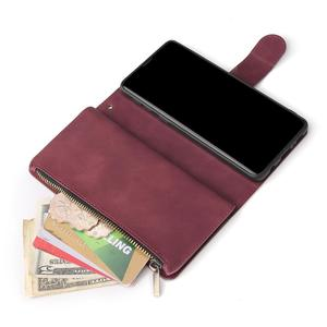 Image 5 - Luxe Zipper Wallet Card Case Voor Samsung Galaxy S10 S20 S9 S8 Plus S10e Note 9 10 Pro Flip Cover stand Multi Slots
