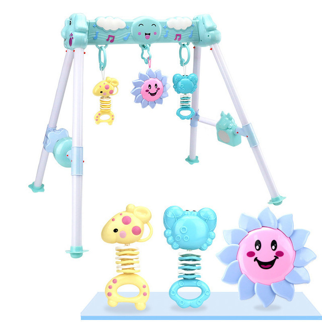 Infant Baby Fitness Frame Newborns Sports Toy Music Baby Fitness Equipment Educational Early Childhood Toy