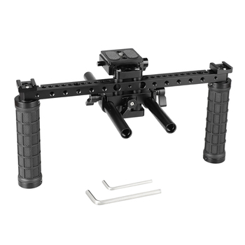 CAMVATE Open-ended Camera Cage Kit With ARCA QR Plate & 15mm LWS Rod System & Rubber Grips  C2198