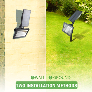 Image 3 - T SUNRISE 50 LEDs Solar Garden Lights Outdoor IP44 Waterproof Wall Lighting Lawn Lamp Powered Sunlight for Garden Decoration