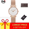 Hannah Martin женские часы из нержавеющей стали Hardlex циферблат женские часы водонепроницаемые Модные кварцевые наручные часы