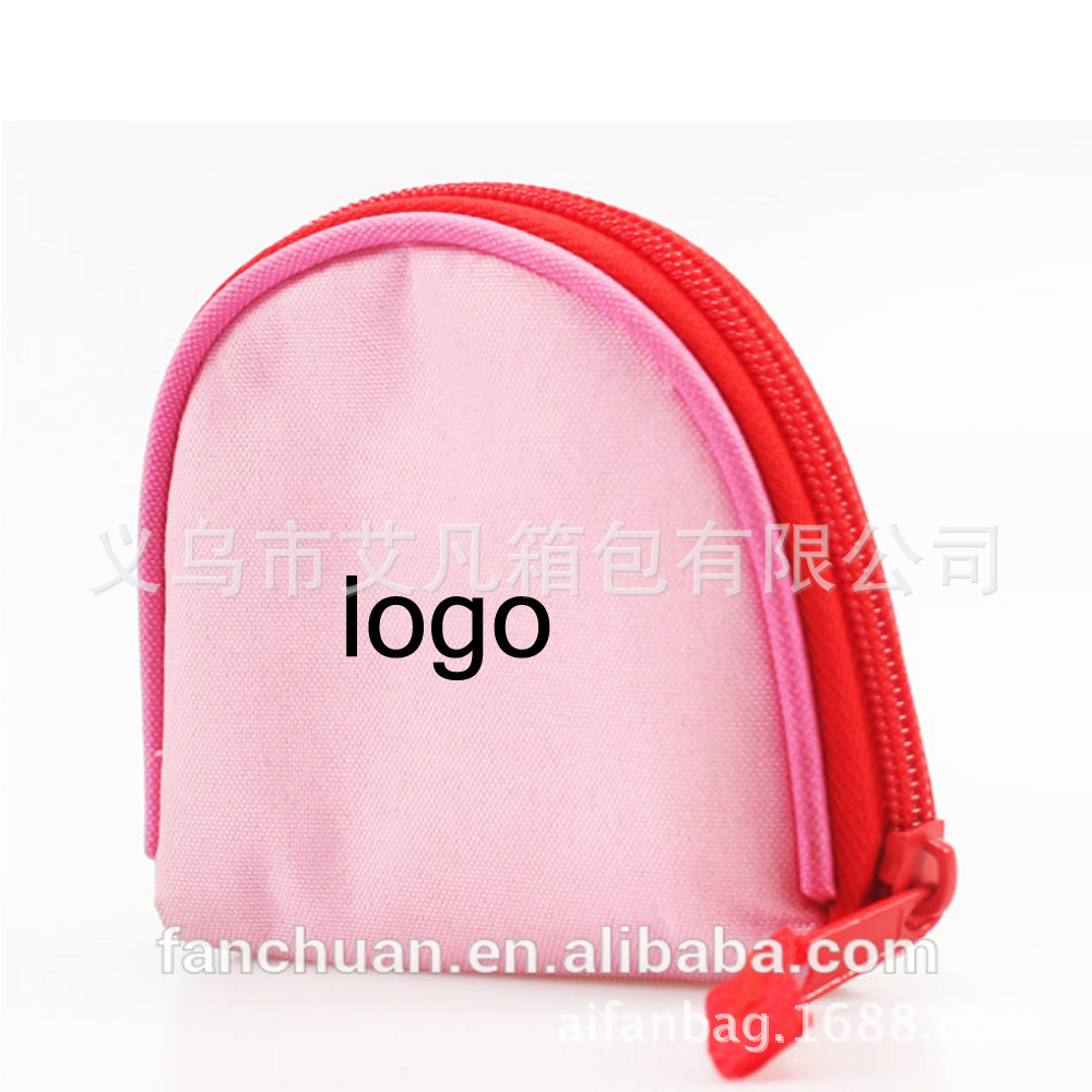 Industry Children Carrying Purse Gift Can Be Printed Logo Oxford Cloth Key Students Coin Bag