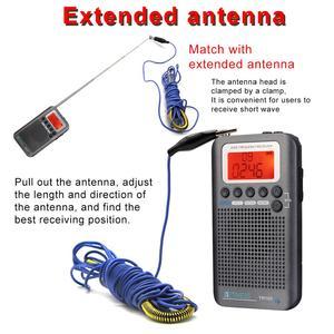 Image 5 - Retekess TR105 Air Band Radio Portable FM AM SW VHF Full Band Radio CB Receiver Digital Alarm Speaker with Extend Antenna