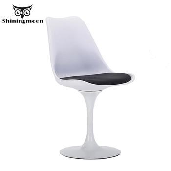 Modern Minimalism Plastic Chairs Nordic Rotatable White Dining Chairs Comfortable Barber Shop Holsale Chairs Conference Chairs фото