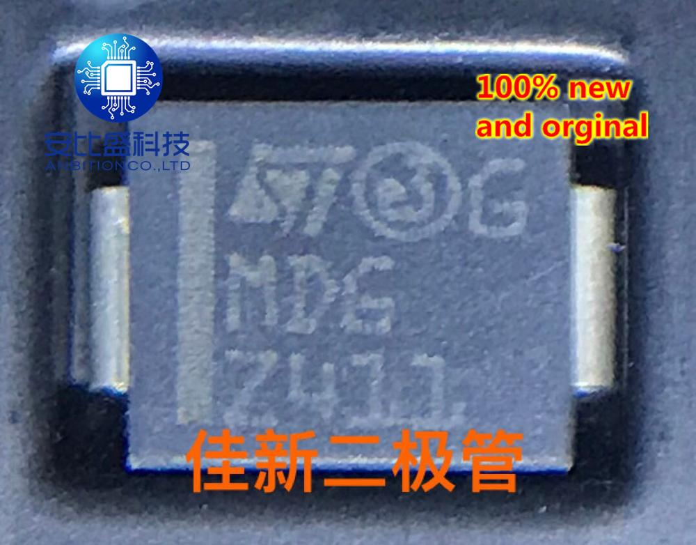 25pcs 100% New And Orginal SM15T7V5A 7.5V Unidirectional TVS Diode DO214AB Silkscreen MDG  In Stock