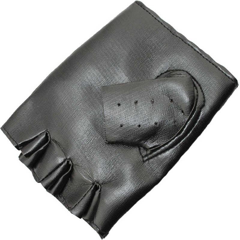 Unisex Cool Punk RockหนังดูFINGERLESSถุงมือ