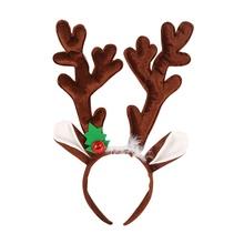 Opaski świąteczne śliczne rogi jelenia poroża reniferów opaski do włosów z pałąkiem na głowę kostium na przyjęcie bożonarodzeniowe tanie tanio CN (pochodzenie) Cute Elk Deer Headbands Cute decoracion Party decoracion