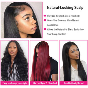 Image 2 - Bling Hair 8 30 Inch Straight Hair Bundles With Closure 13*4 Lace Frontal Malaysian Remy Human Hair Weave Bundles With Closure