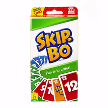 Mattel Games UNO:SKIP BO Card Game Multiplayer Card Game Family Party Games Toys Kids Toy