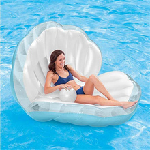 Inflatable Shell Pool Floats Water Sofa Floating Air Bed Water Floating Row Cushion For Beach Swimming Pool Party Water Toys