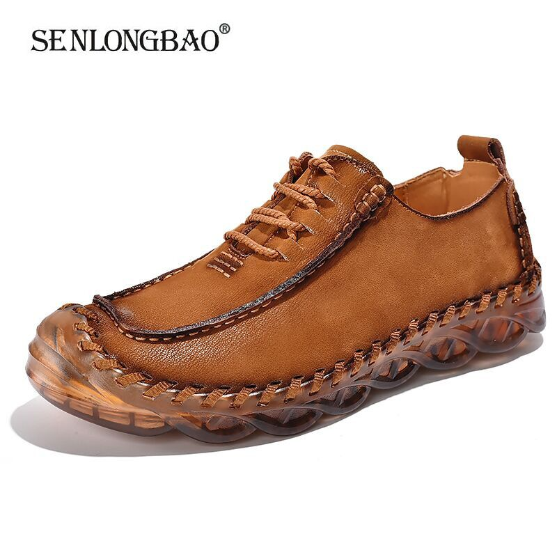 New Comfortable <font><b>Men</b></font> Casual <font><b>Shoes</b></font> Breathable Loafers High Quality Genuine Leather <font><b>Men's</b></font> <font><b>Shoes</b></font> Man Flats Hot Sale Moccasins <font><b>Shoes</b></font> image