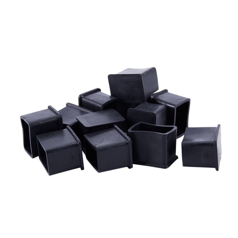 Furniture Chair Table Rectangle Leg Protector Rubber Foot 20mmx30mm 12Pcs