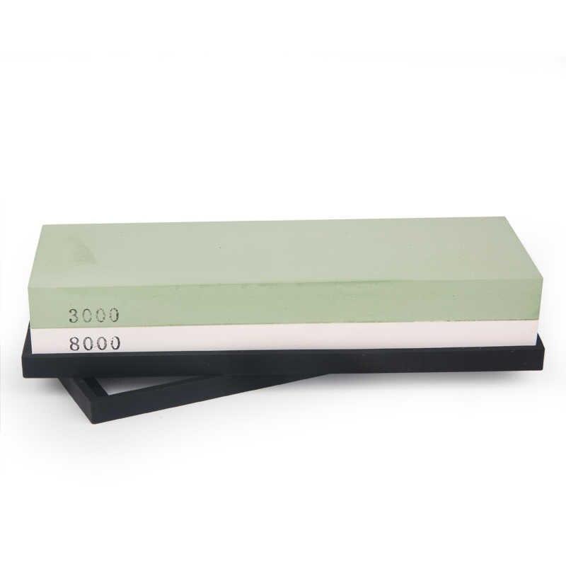 3000/8000 #1 قطعة سكين احترافي حجر حصى الأبيض الكوراندوم المشحذ سكين مبراة شحذ لتلميع سكين