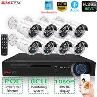 Security camera 2/8ChanelPOE CCTV system NVR kit 1080P HD Video ip camera IRCUT 2mp HD POE Home Security Video Surveillance Set