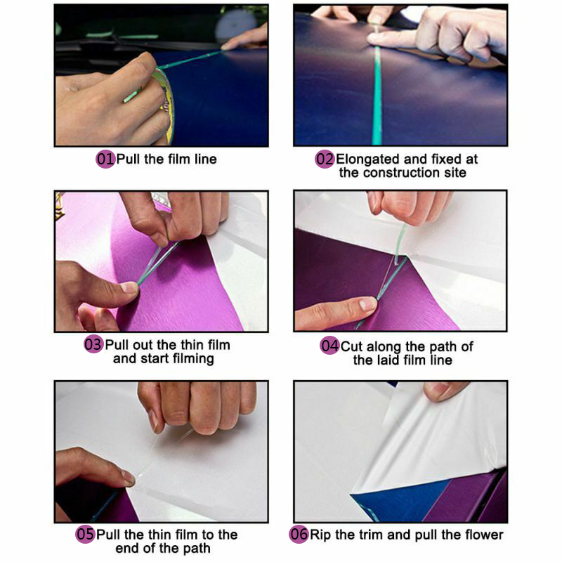 Image 5 - 5M PVC Car Wrap Knifeless Tape Design Line Car Stickers Cutting Tool Vinyl Film Wrapping Cut Tape Auto Accessories-in Car Stickers from Automobiles & Motorcycles