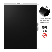 BBQ Grill Mesh Mat Reusable Sheet Resistant Non-Stick Barbecue Bake Meat Black Barbecue Mat