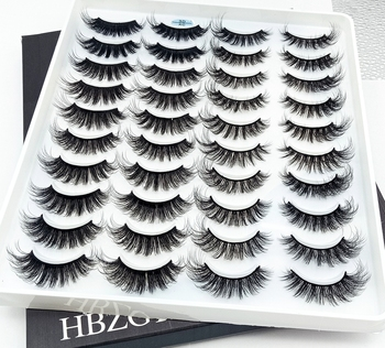 5/18/20 Pairs 3D Soft Mink False Eyelashes Handmade Wispy Fluffy Long Lashes Natural Eye Extension Makeup Kit Cilios Beauty Essentials