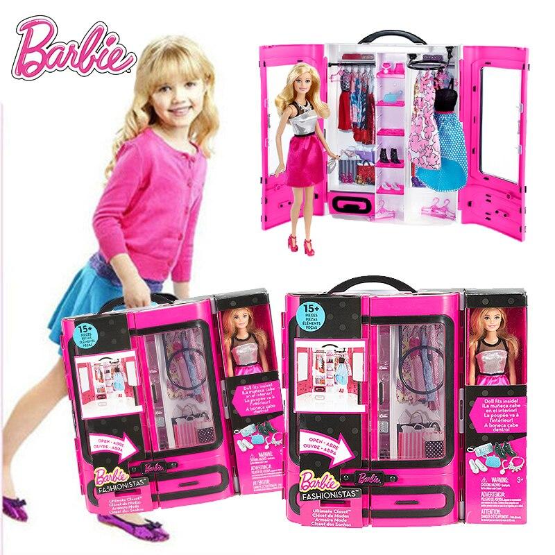 Barbie Puppe mädchen spielzeug set geschenk box von traum kleiderschrank Mädchen dressing up spielzeug Verschiedene arten von kleidung sind verfügbar