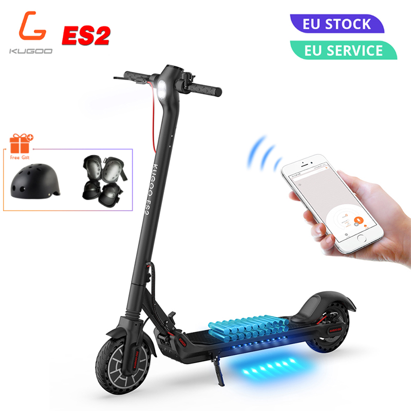KUGOO ES2 Folding Electric Scooter 350W Disk Brake Motor LCD Display Screen 7.5AH E Scooter Max 25KM/H 8.5 Inch Tire PK M365