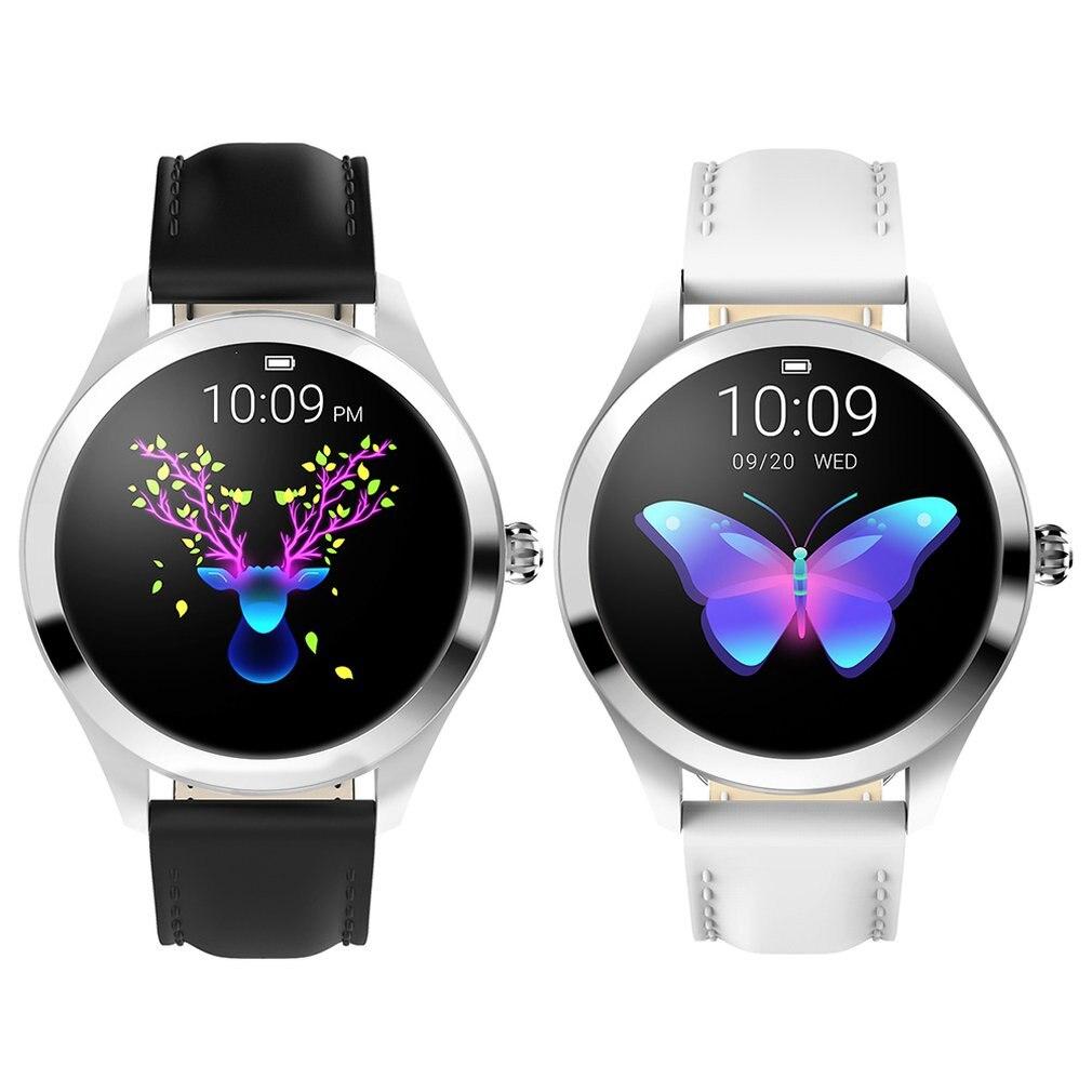 KW10 montre intelligente femmes 2018 IP68 étanche surveillance de la fréquence cardiaque Bluetooth pour Android IOS Fitness Bracelet Smartwatch